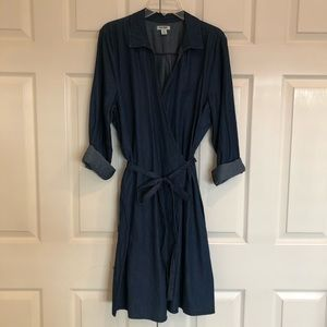 Old Navy denim wrap dress - NWOT